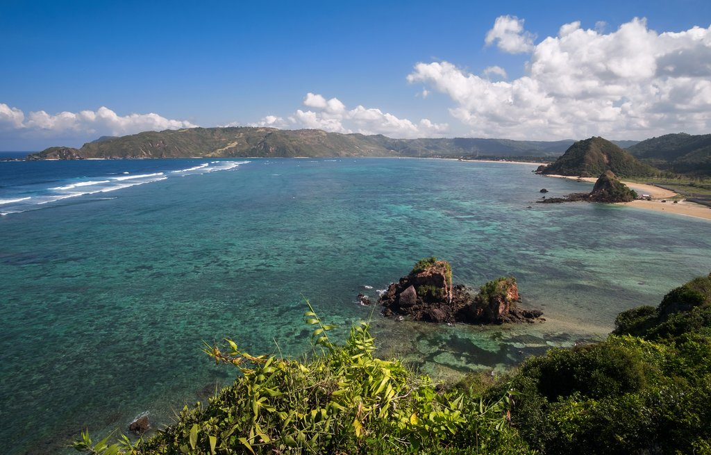 Spend your last day on Lombok exploring picturesque beaches
