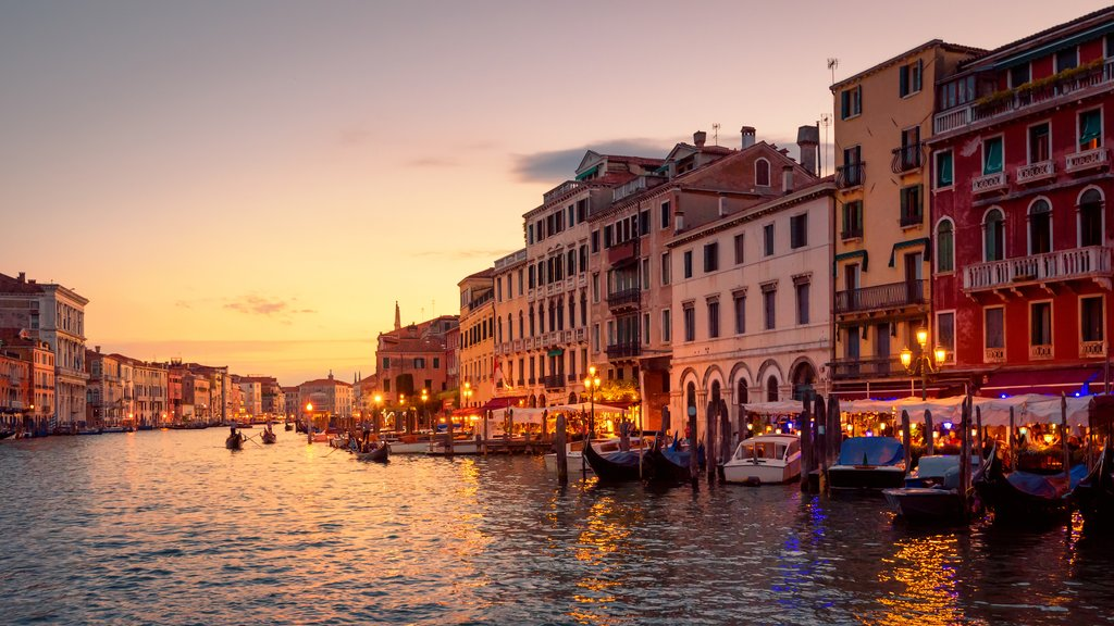 Sunset Gondola Ride in Venice, Italy