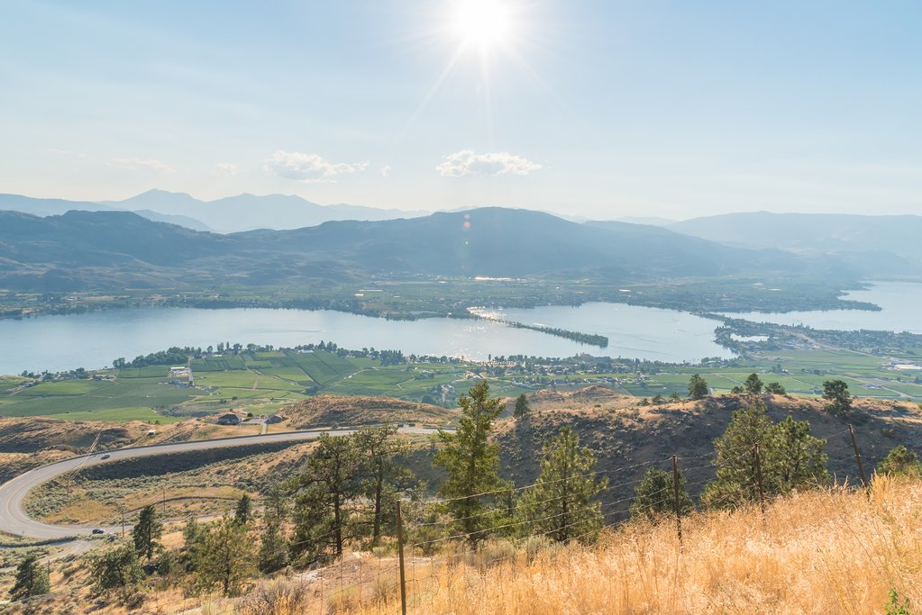 The town of Osoyoos and Osoyoos Lake