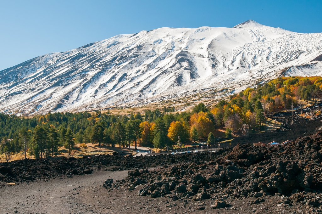 Italy - Sicily - Mount Etna in the Autumn