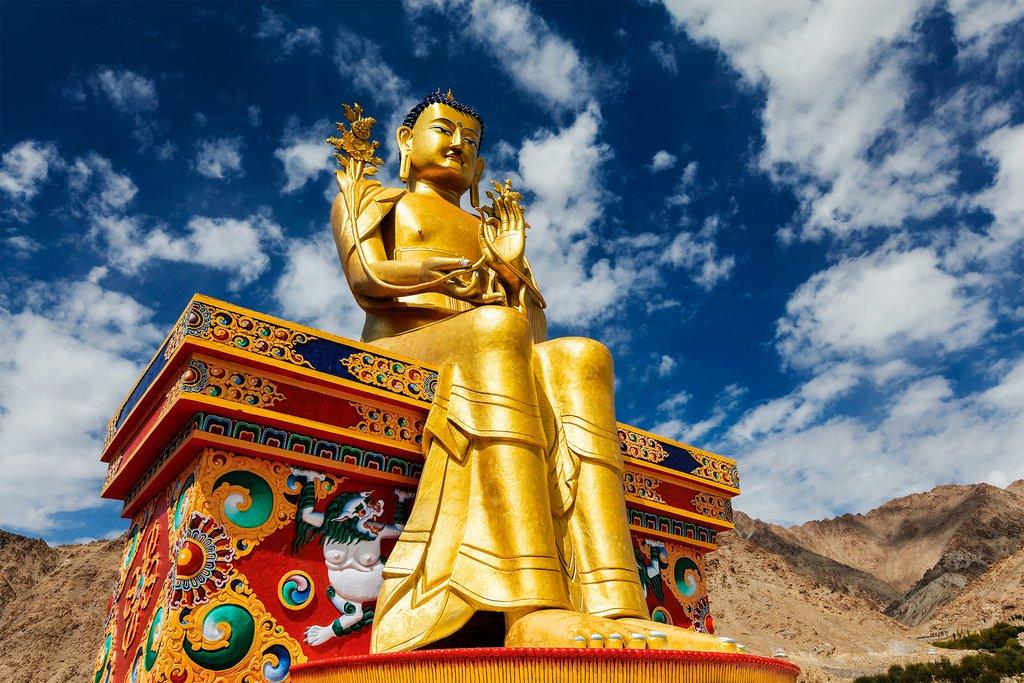 The Buddha Maitreya statue in Likir