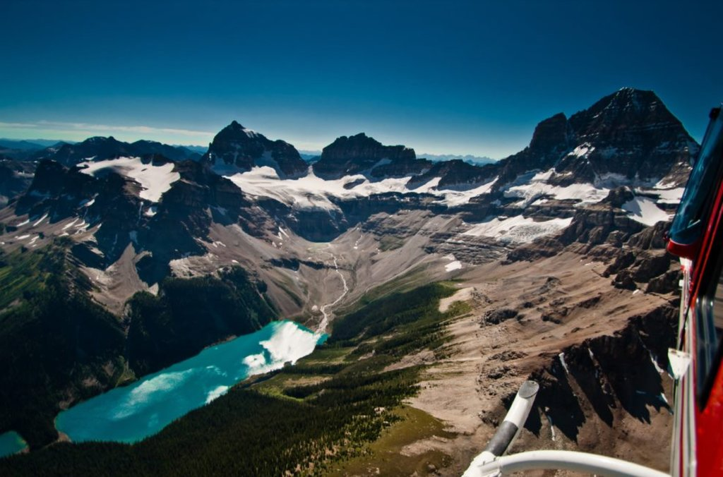 Spectacular views during at Mt. Assiniboine heli-tour