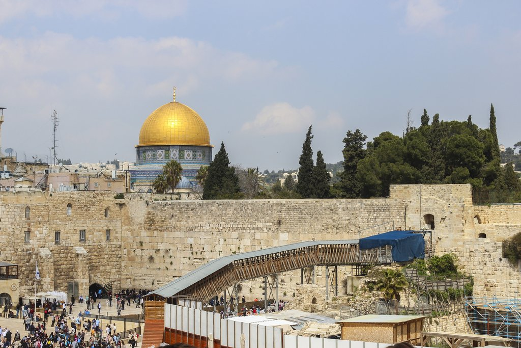 Israel - Old City of Jerusalem - Western Wall + Dome of the Rock