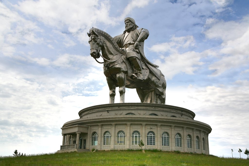 Visit the world's largest equestrian statue at the Chinggis Khaan Statue Complex