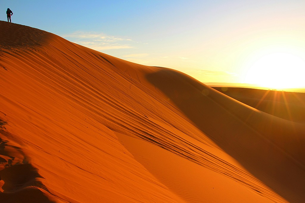 The Dunes of the Sahara in Merzouga