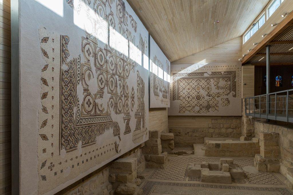 Jordan - Madaba - Preserved mosaics