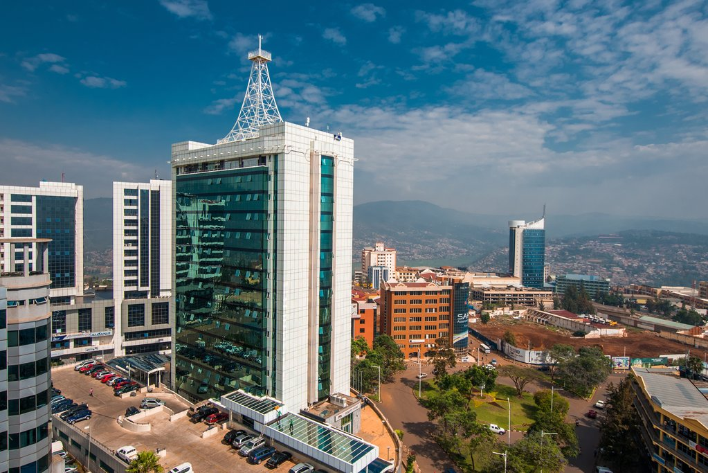 Kigali City Tower in the Pension Plaza