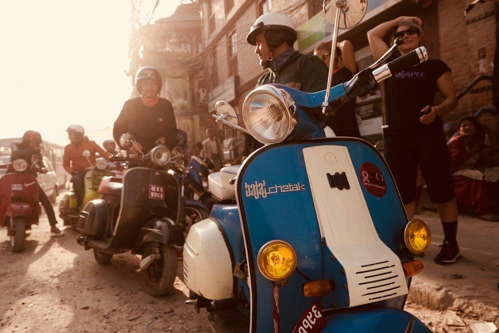Vespas in Kathmandu