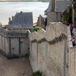 The defensive walls of Mont Saint Michel