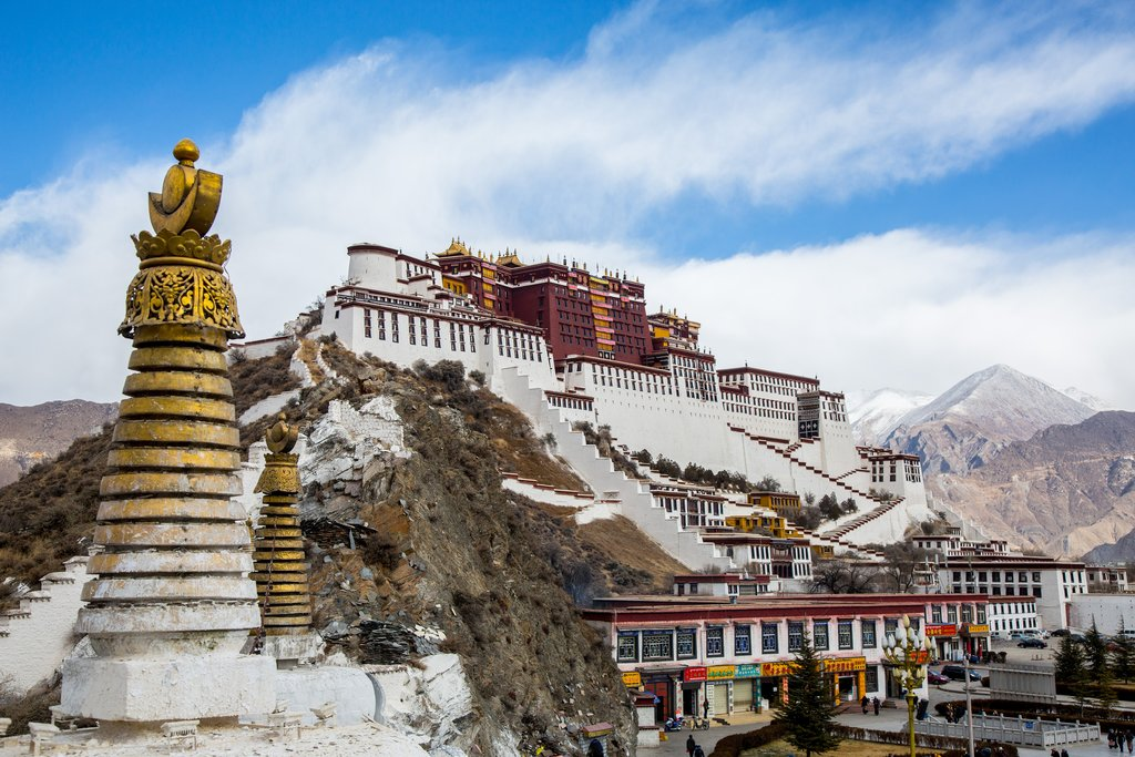 Potala Palace in Lhasa, the winter home of the Dalai Lamas until 1959