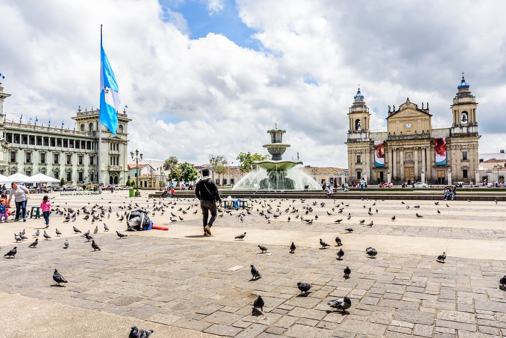 Guatemala - Guatemala City - Palacio Nacional de la Cultura and Cathedral of Guatemala City
