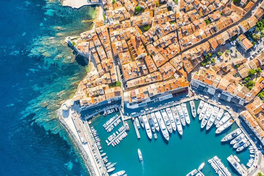 Aerial view of Saint-Tropez