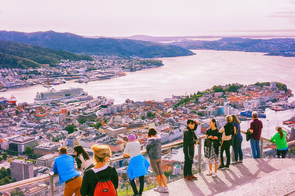 Bergen's afternoon colors  in summer