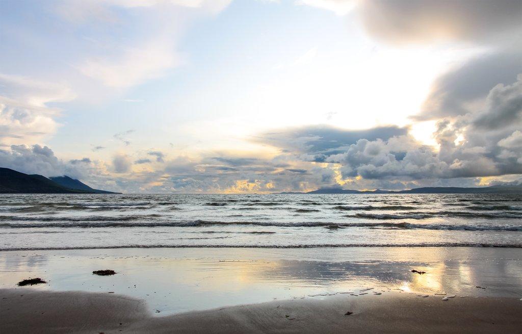 Dramatic skies on a Glenbeigh beach