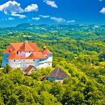 Veliki Tabor Castle in the rollings hills of Zagorje county
