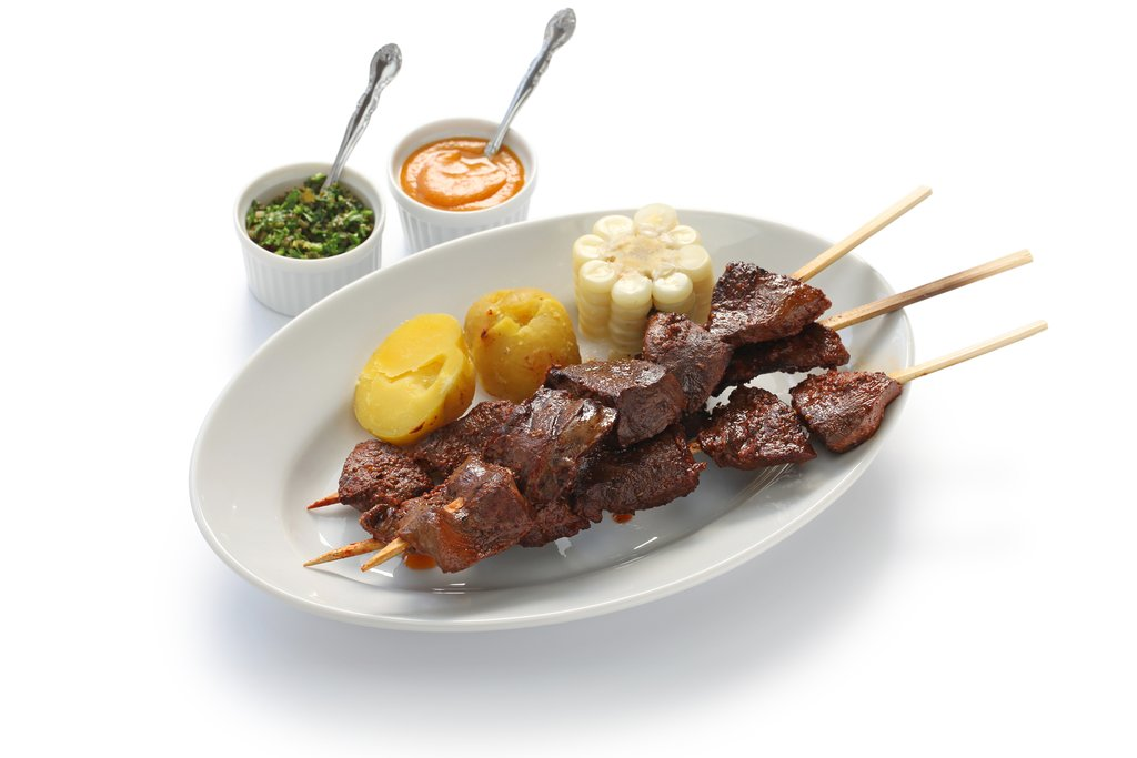 Marcelo Batata serve up a memorable version of anticuchos (skewered beef hearts)