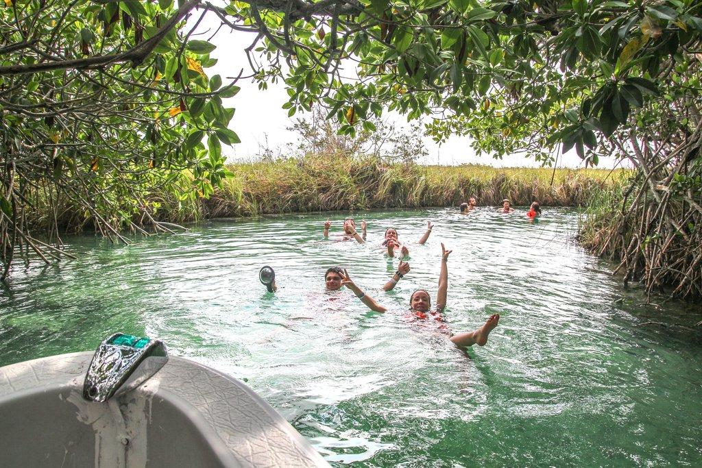 Floating in Sian Ka'an Reserve