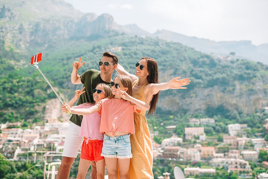 Selfies in Positano