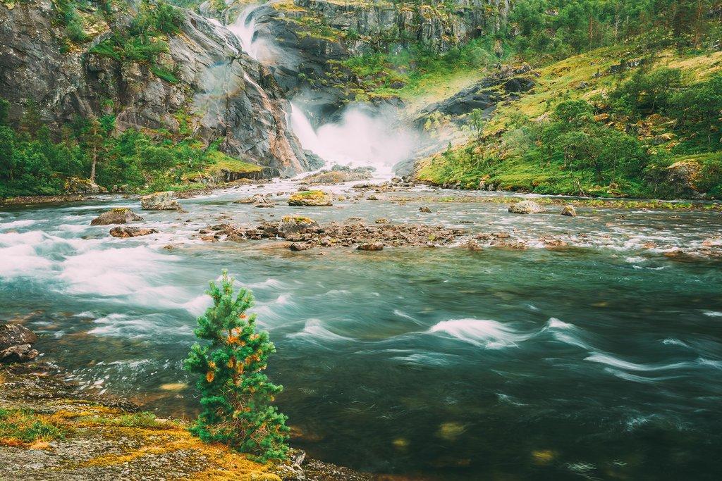Waterfalls in the Husedalen valley area