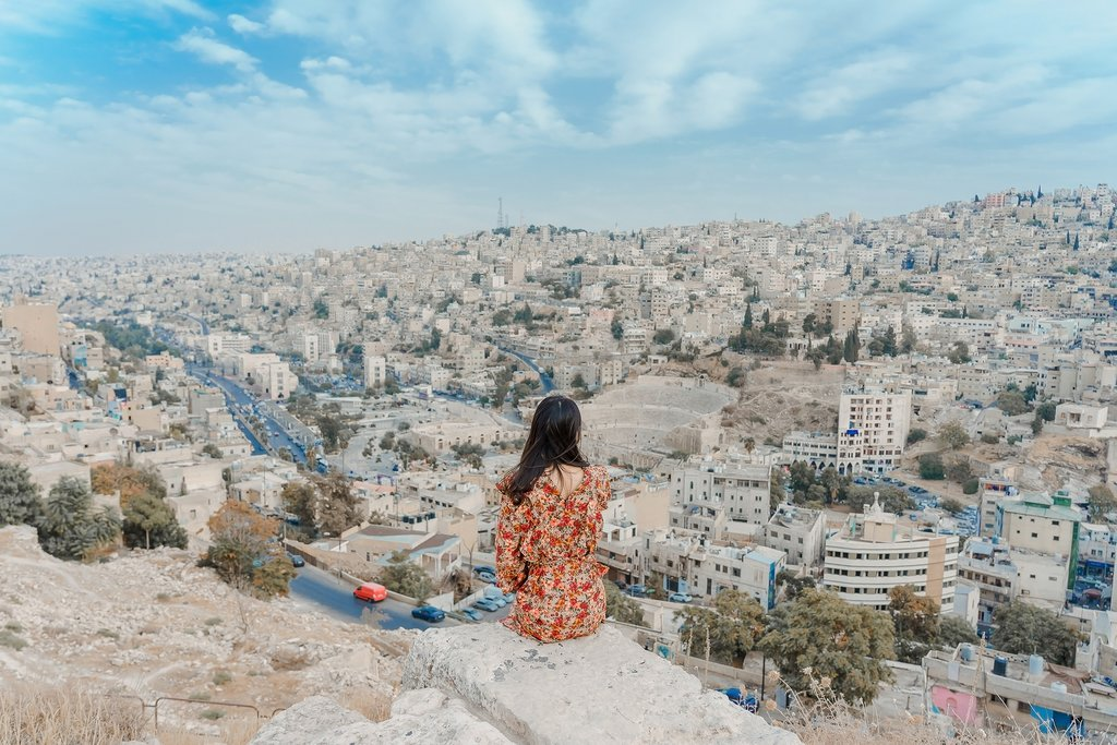 The amazing view from Amman Citadel