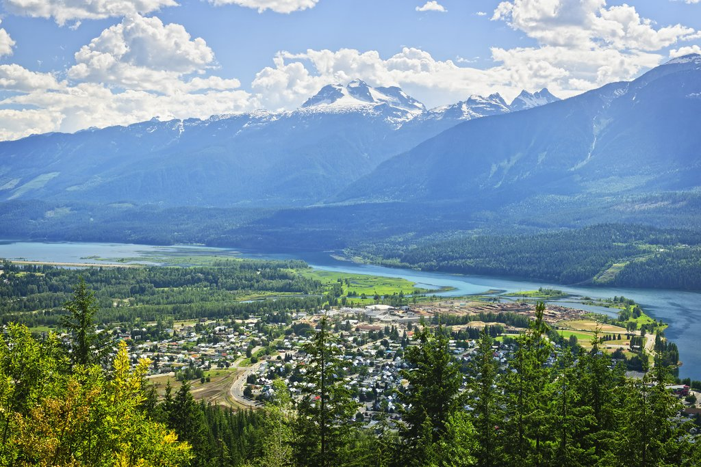 View over Revelstoke and the Columbia River