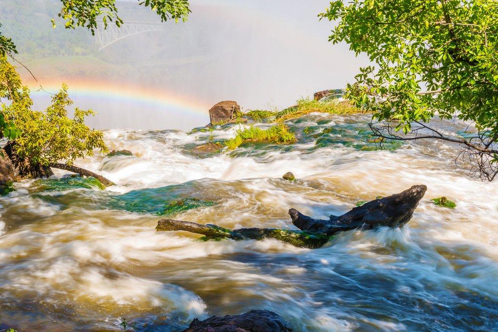 Zambezi River, Victoria Falls in Zimbabwe