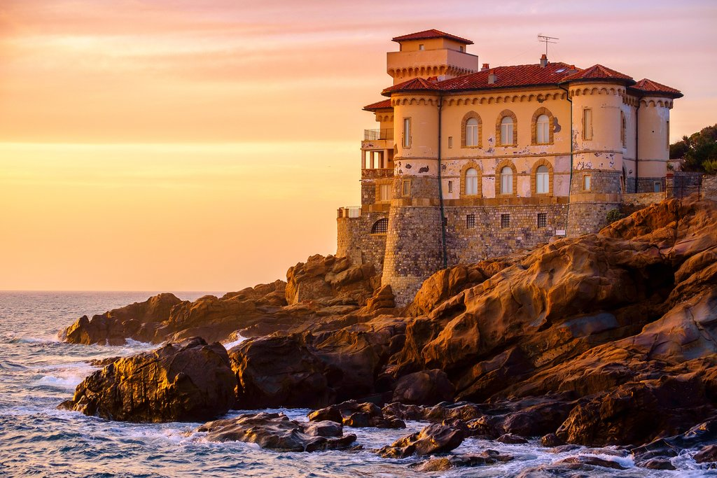 Boccale Castle on the Tuscan coast near Livorno