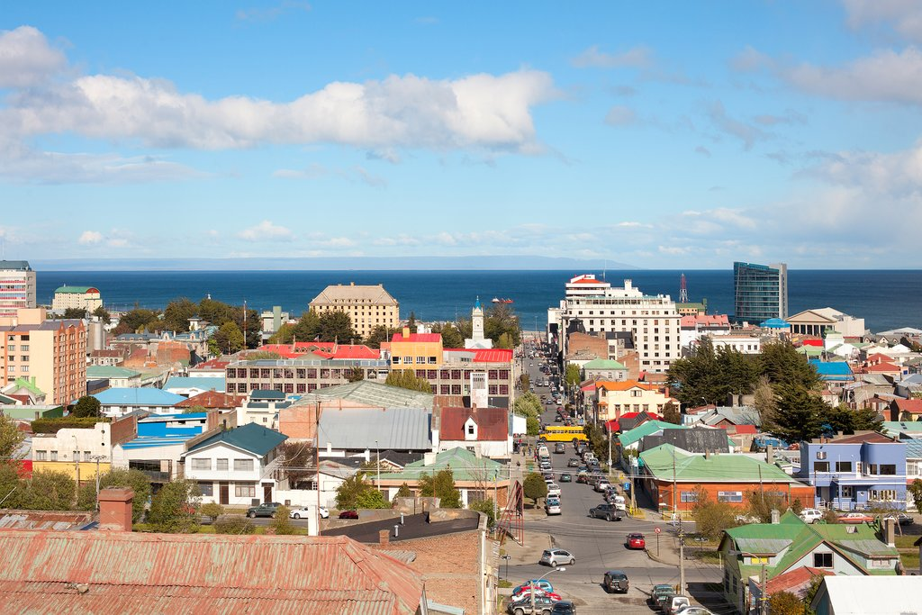 Panoramic view of Punta Arenas
