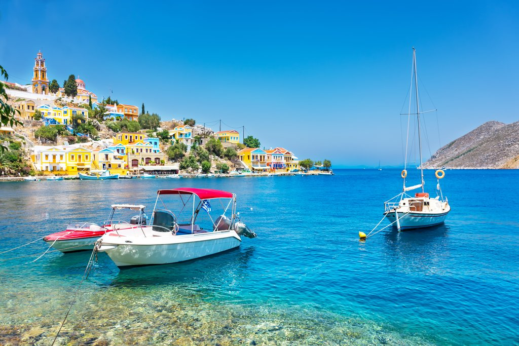Sailboats in Rhodes, Dodecanese islands