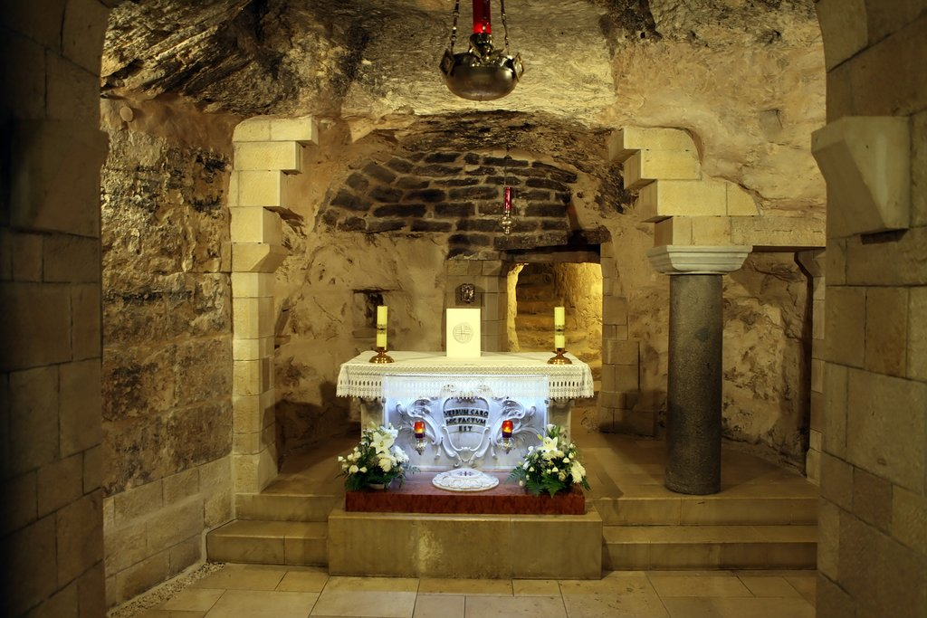 Church Basilica of the Annunciation in the center of Nazareth