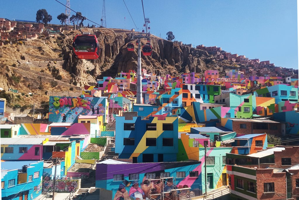 A colorful neighborhood in La Paz