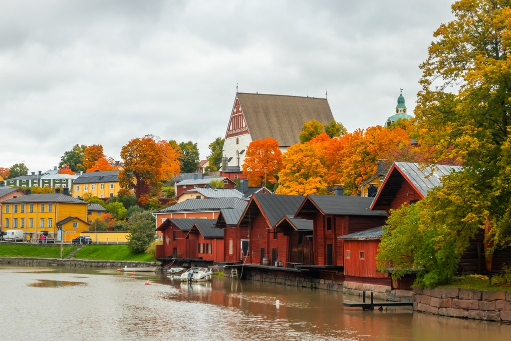 Porvoo, Finland's characteristic red houses