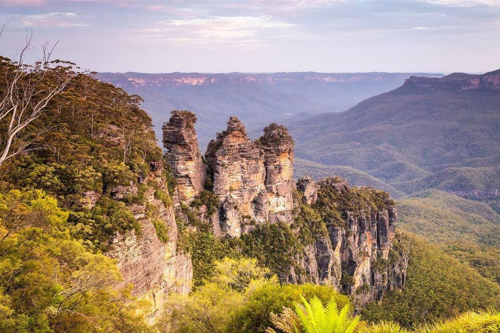 Three Sisters in the Blue Mountains, Australia