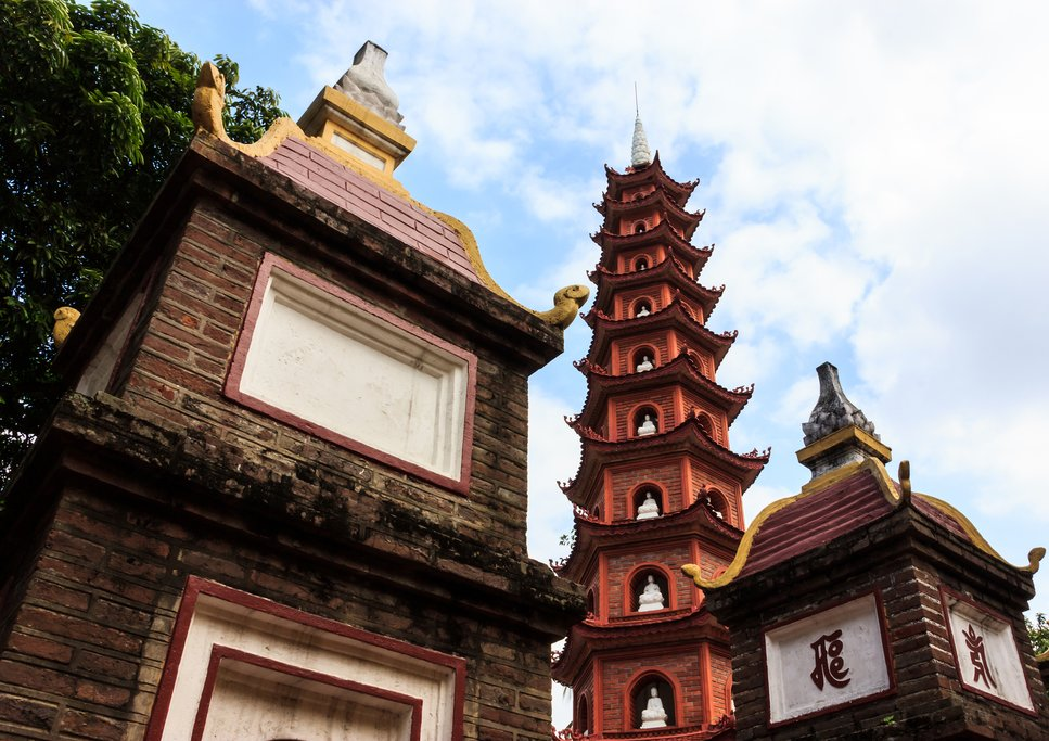 View of Tran Quoc Pagoda in Hanoi