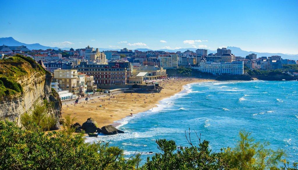 View on Biarritz beach and casino