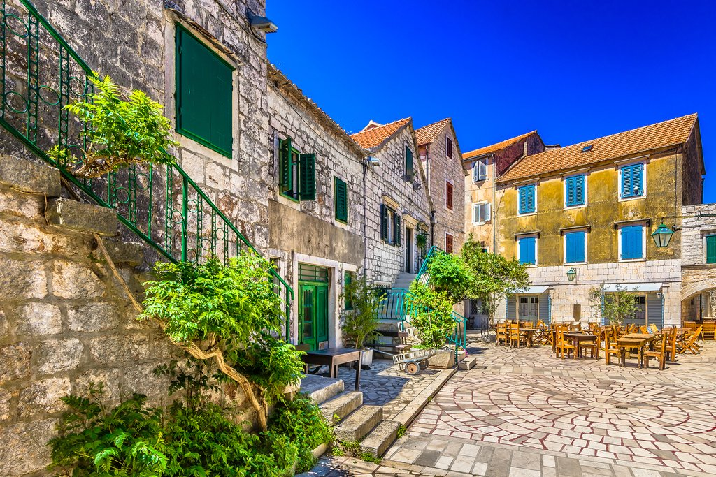 2400-year-old stone square in Stari Grad