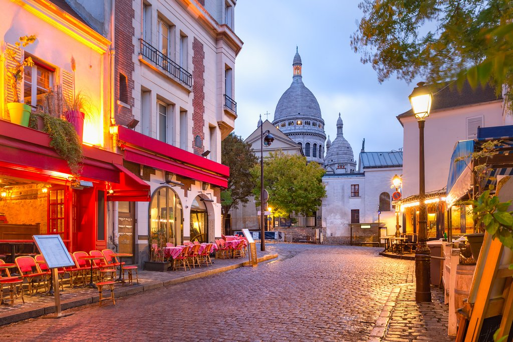 A street in Montmartre near the Sacre Couer