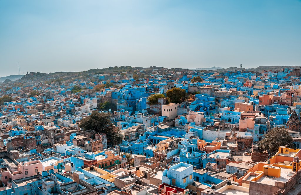 The blue Old Town of Jodhpur is a UNESCO World Heritage Site