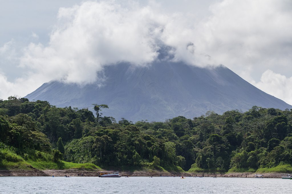 The peaceful waters of Lake Arenal