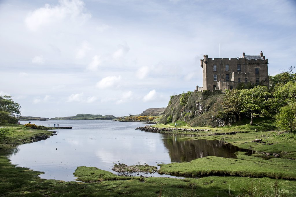 Dunvegan Castle standing sentry over Loch Dunvegan.