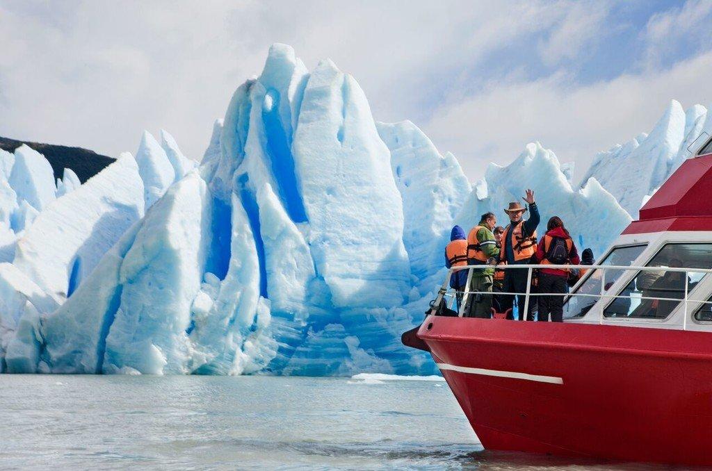 Take a boat tour around Glacier Grey