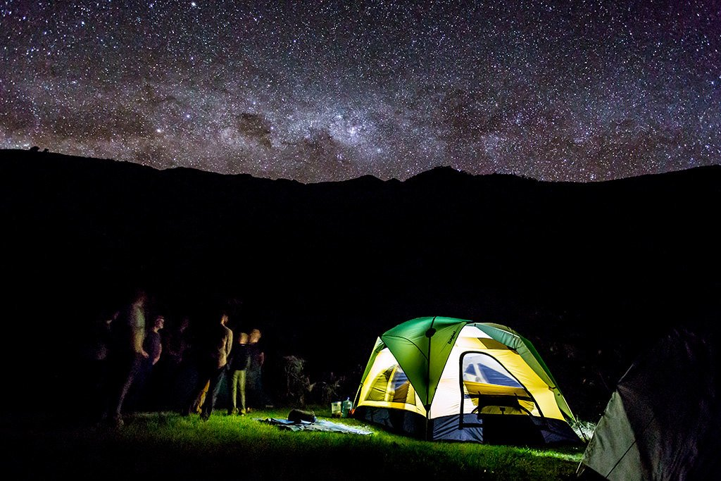 Camping en route
