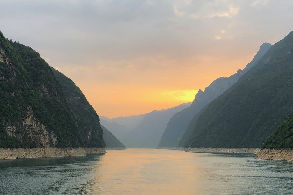 Sunset over Wu Gorge