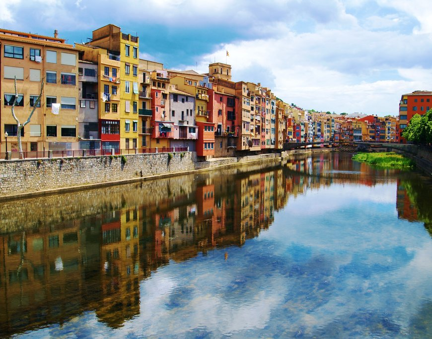 Girona's intriguing centre.