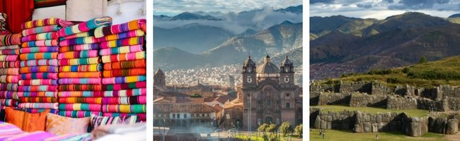 Cusco's beautiful historic center, framed by the Andes