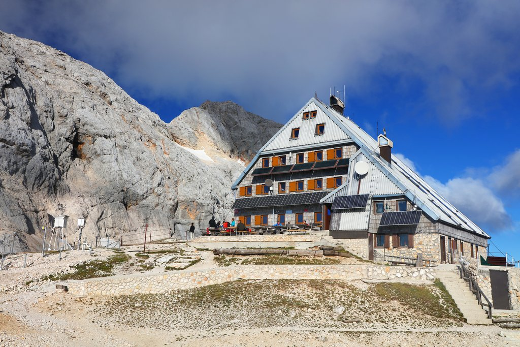 A mountain hut near Mount Triglav