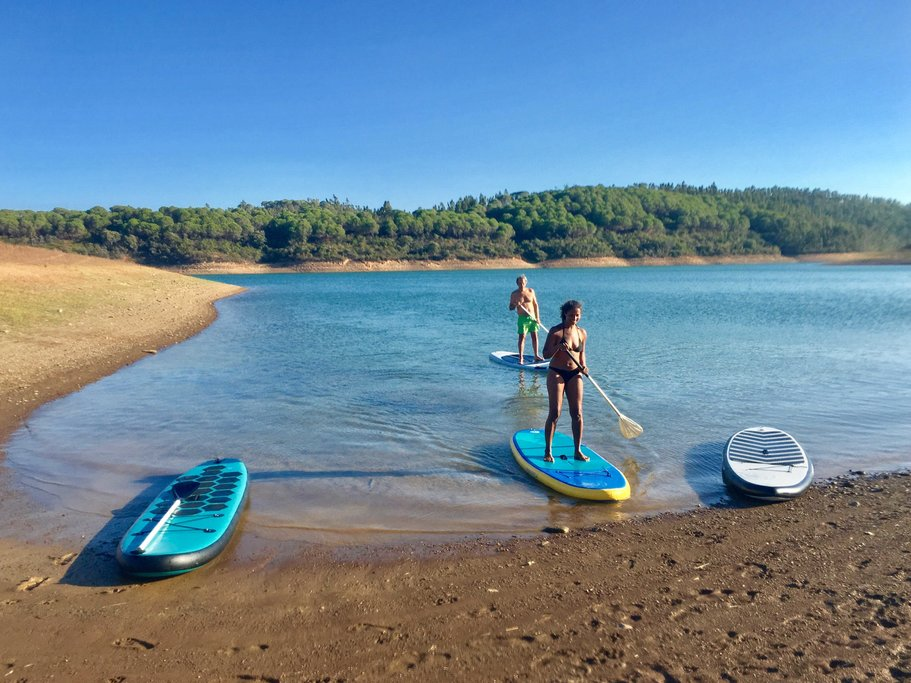 Go stand up paddle boarding through the Ria Formosa