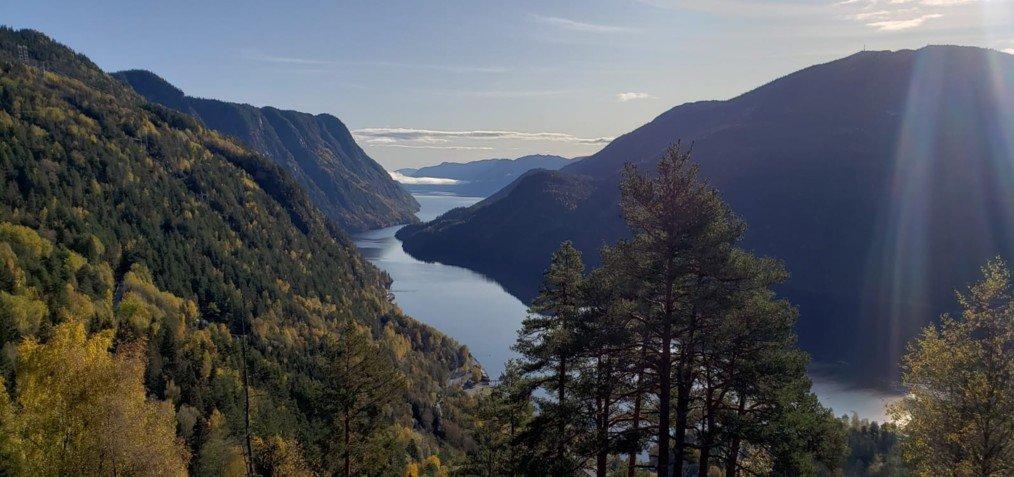 Views over Bandak Lake near Dalen
