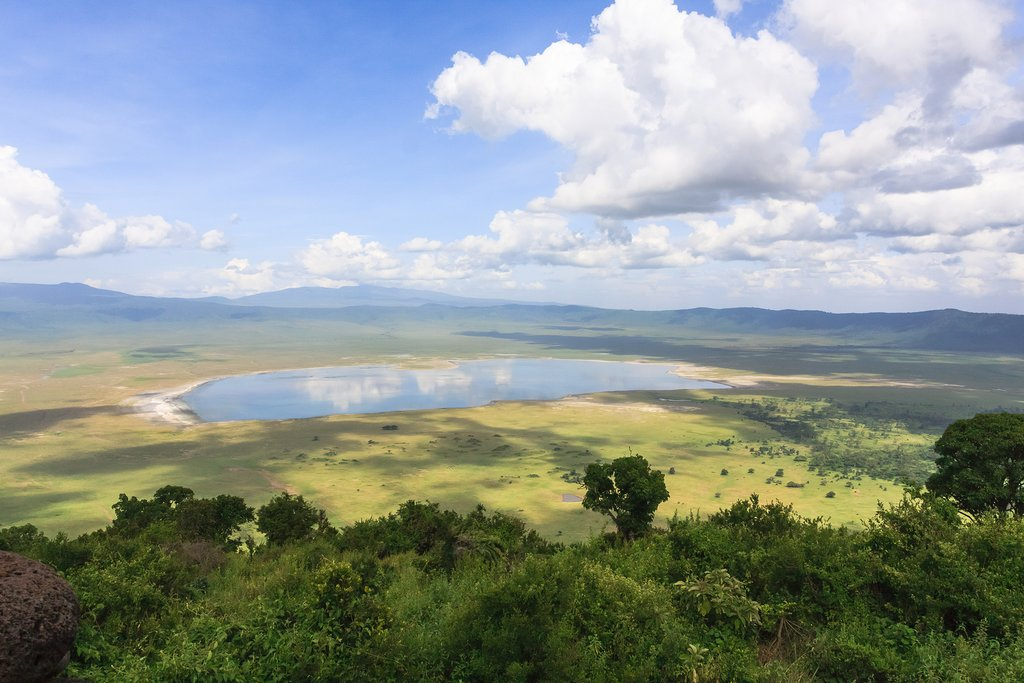 View of the Ngorongoro Crater Lake