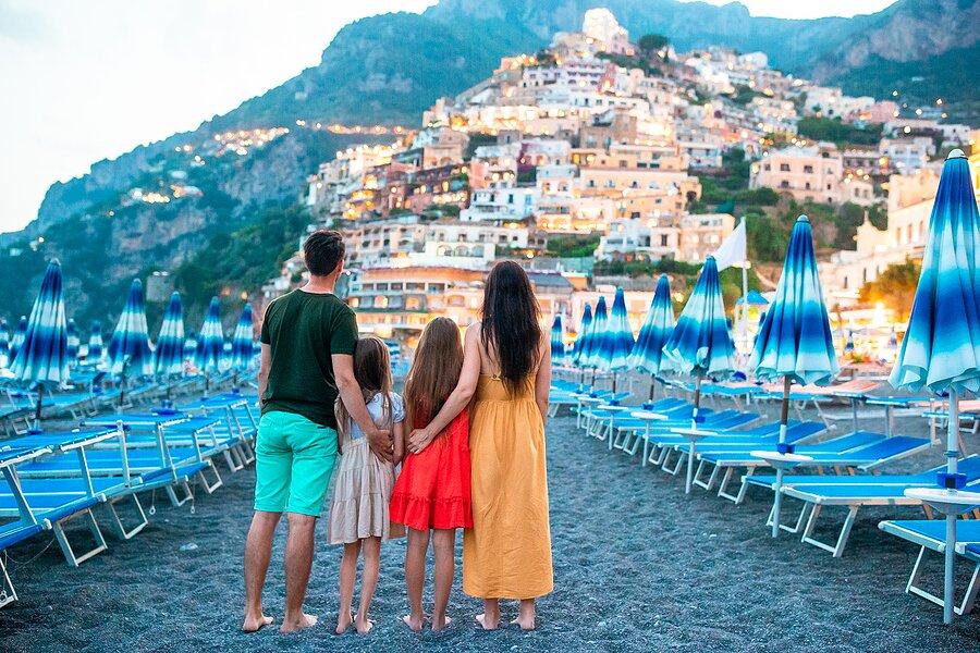 Amalfi Coast at sunset